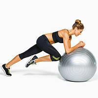 Фитбол Мяч для фитнеса 85 см Profiball для гимнастики пилатеса похудения беременных детей Серый