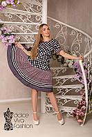 Стильное платье с воланом размеры 46-58