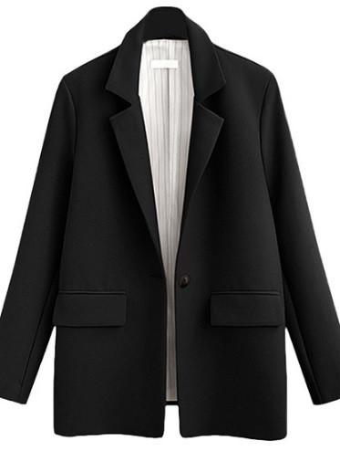 Пиджак женский классический с подкладкой, черный