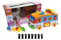 Сортер Веселощі в автобусі зі світлом, озвучений українською мовою, в коробці UKA-A0117 р.29*14,5* (шт.)