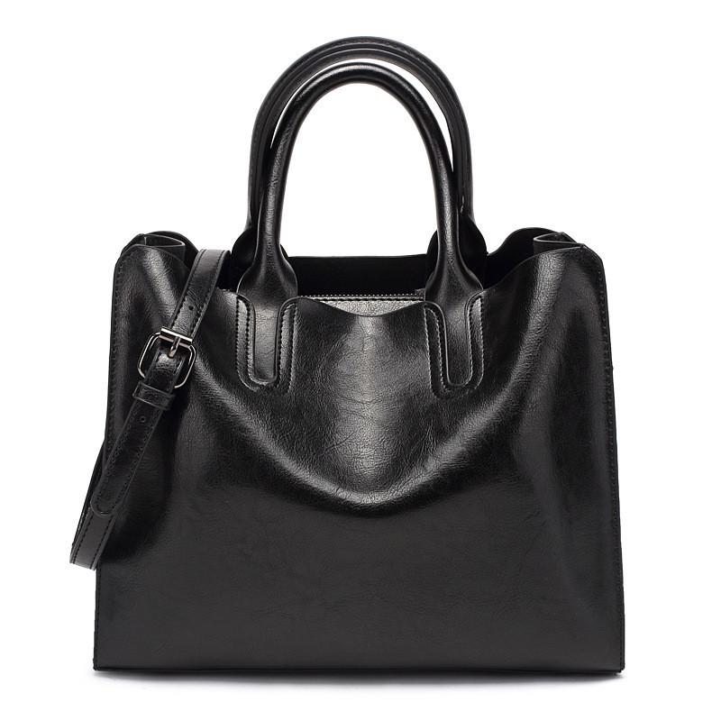 Элегантная и стильная женская сумка из качественной экокожи, черная