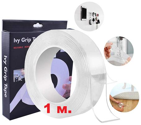 Многоразовая двухсторонняя крепежная лента | Двухсторонний скотч  Ivy Grip Tape (1 м.), фото 2