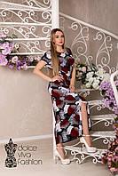 Летнее женское платье размеры 46-56
