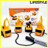Індукційна машинка Inductive Truck від 5років, пластик, від батарейок LR44, дитячі іграшки, дитячі машинки