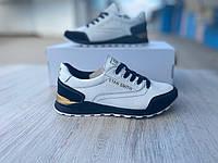 Підліткові шкіряні кросівки Adidas, білі (32-40 р.)