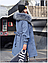 Женская парка с капюшоном и подкладкой ,из искусственного меха, черная, фото 4