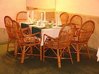 Комплекты плетёной мебели для кафе, баров, ресторанов