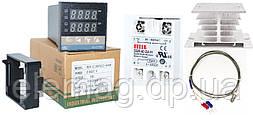 REX-C100, SSR-40 DA, термопара 0-400°C 1 метр, радиатор