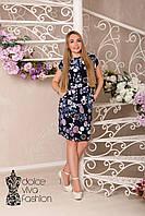 Стильное летнее женское платье размеры 46-54