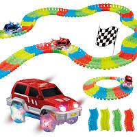 Гнучка іграшкова дорога Magic Tracks для гри 220 шт, від 3х років, пластик, трек гоночний, гонки