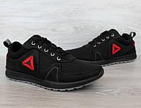 41 і 42 р. Кросівки чоловічі літні чорного кольору з сіткою (1530-02ч)