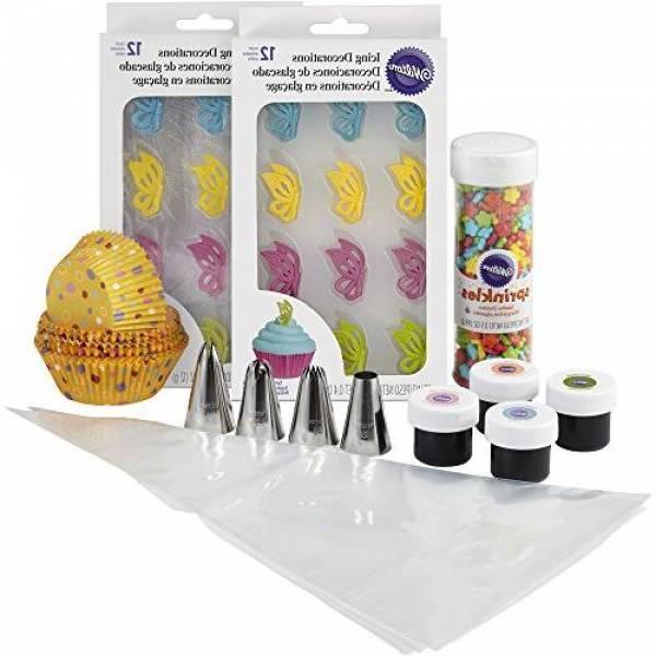 Wilton Набор для украшения капкейков Бабочки Butterflies Cupcake Decorating Kit