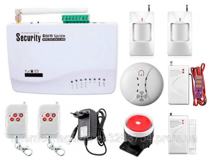 Интеллектуальная охранная GSM сигнализация Kerui G01 для двухкомнатной квартиры (GDUUDF78DJ)