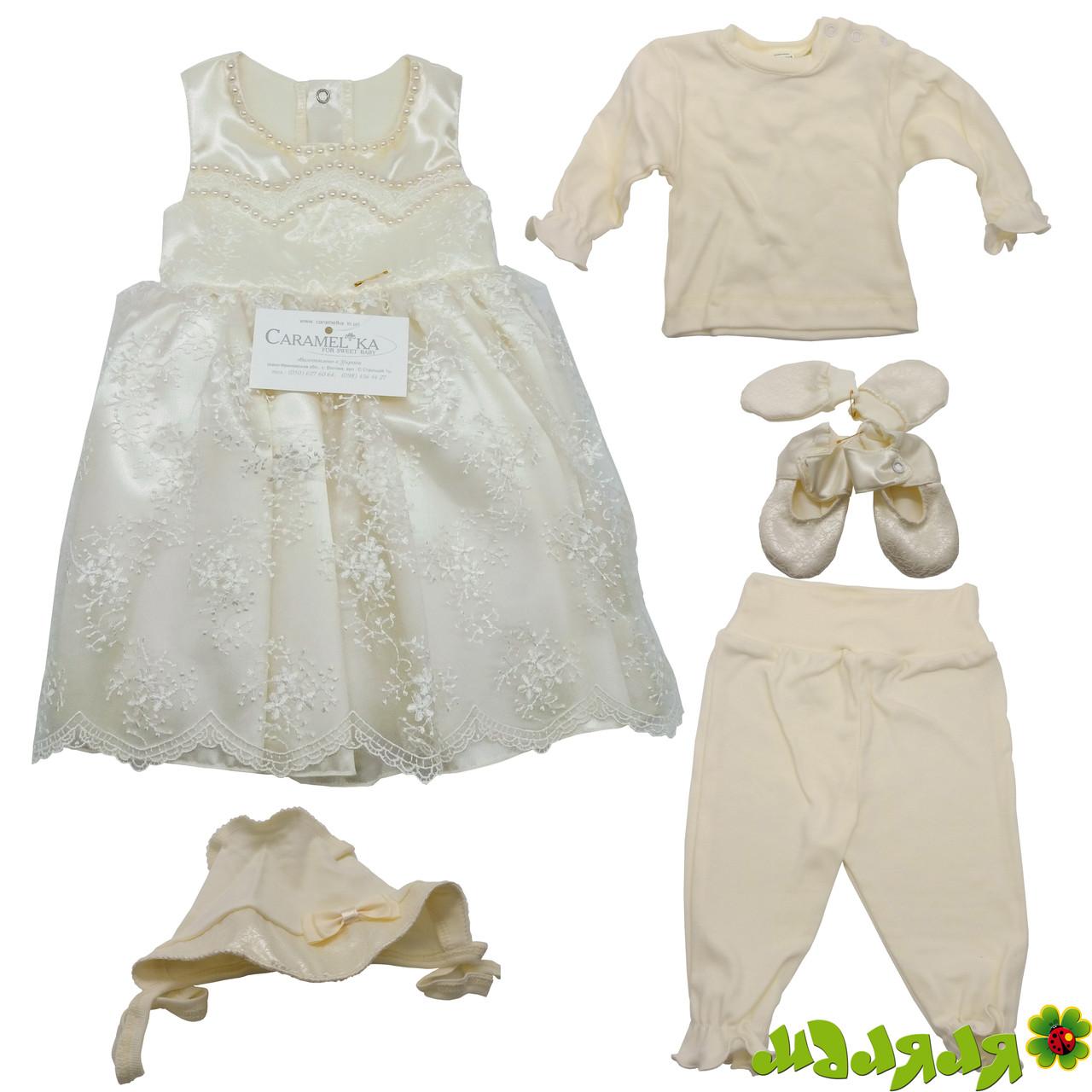 Платье детское праздничное золото-бежр.56 Caramelka 07 КС 78.07