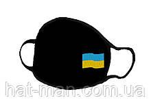 Маска з українським прапором