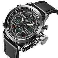 Стильные мужские наручные часы Amst Watch, коричневые, черные, часы армейские
