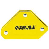Набор держателей магнитных мини 4кг 52×20×40×16×38мм (45,90,135°) 4шт SIGMA (4270251), фото 2