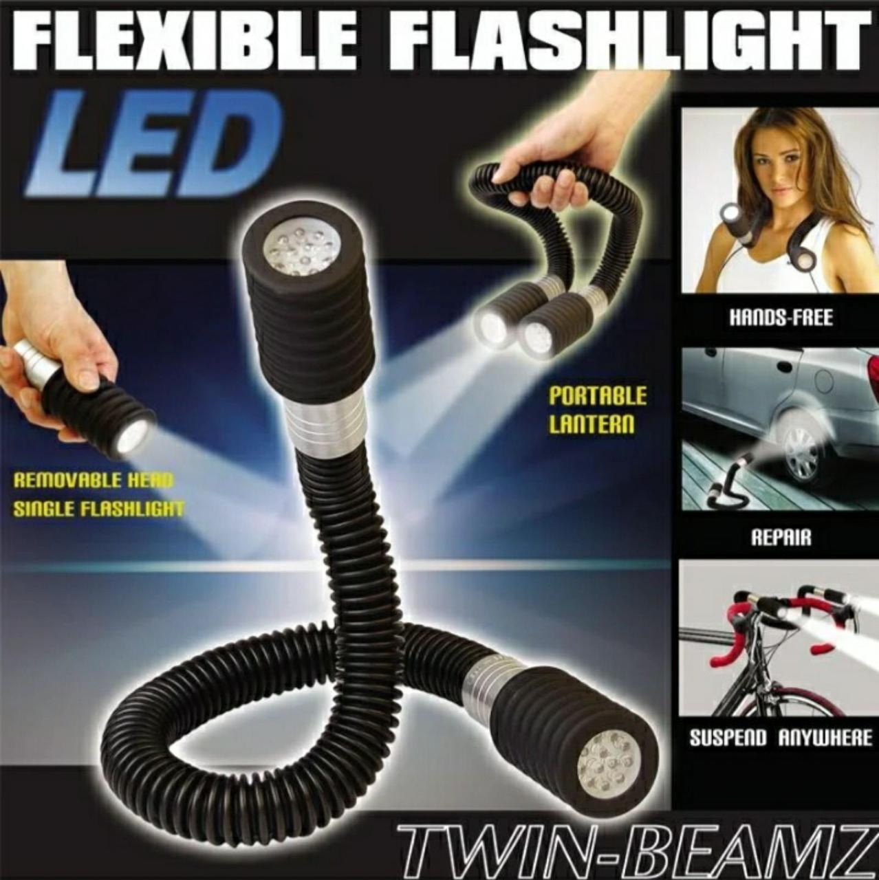 Гибкий двухсторонний фонарик Flashlight Snake на 24 LED