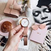 Жіночі годинники наручні Rosefield №3193 рожеве золото, кварц, від батарейок, стрілочні, метал, Годинники жіночі, Наручний жіночий годинник