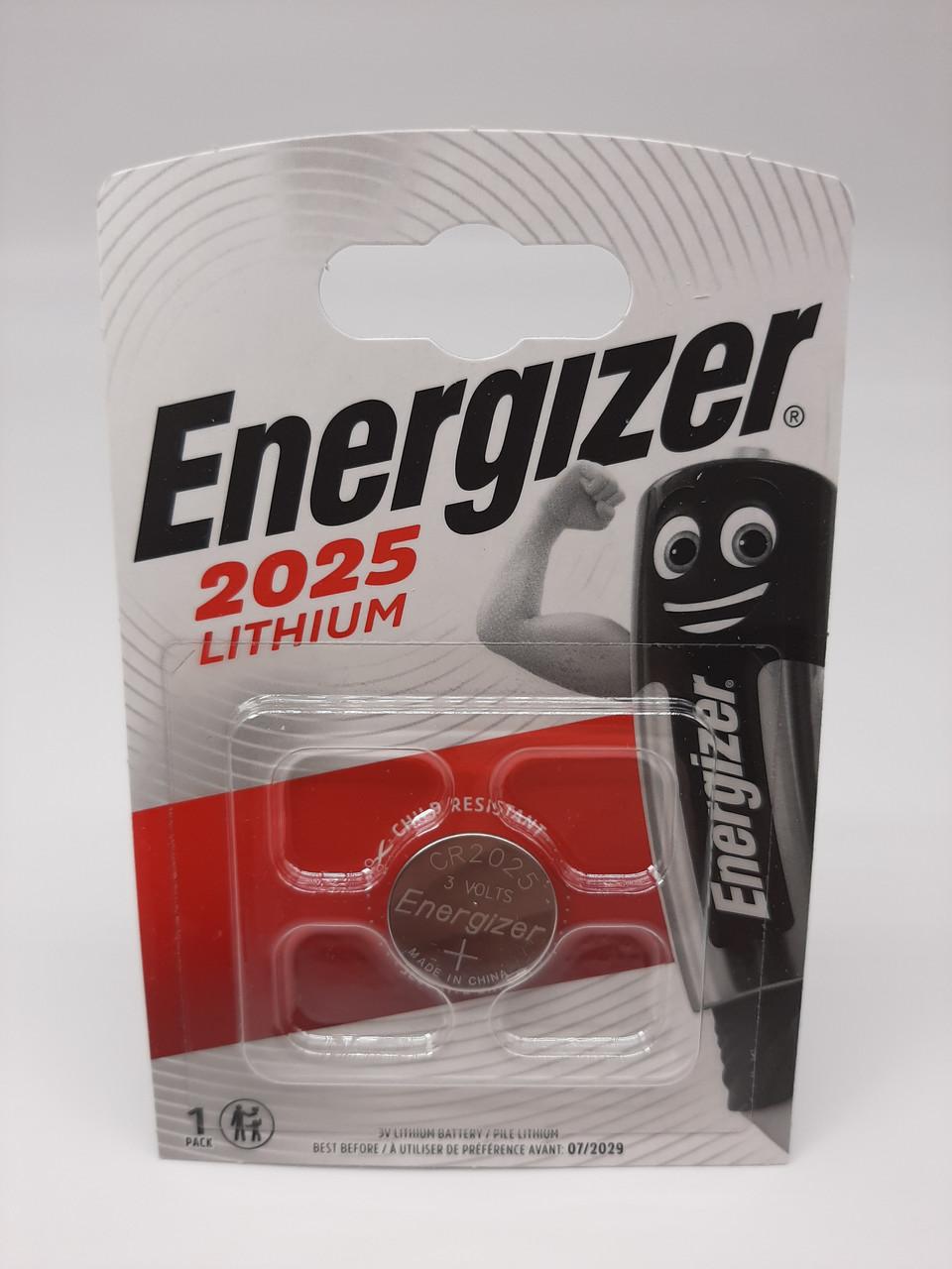 Батарейка для часов. Energizer CR2025 3.0V 140mAh 20x2.5mm. Литиевая