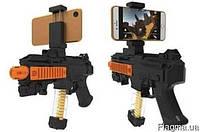 """Іграшковий автомат віртуальної реальності AR Game Gun чорний, до 5,5 """", від батарейок ААА, IOS і Android"""