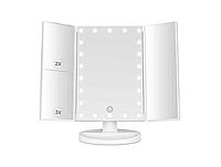 Косметичне потрійне дзеркало з сенсорною кнопкою, Magnifying Mirror 3 в 1 дзеркало з підсвічуванням і збільшенням