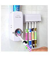 Автоматичний дозатор зубної пасти і утримувач для щіток Olive пластик, для 5 щіток, дозатор