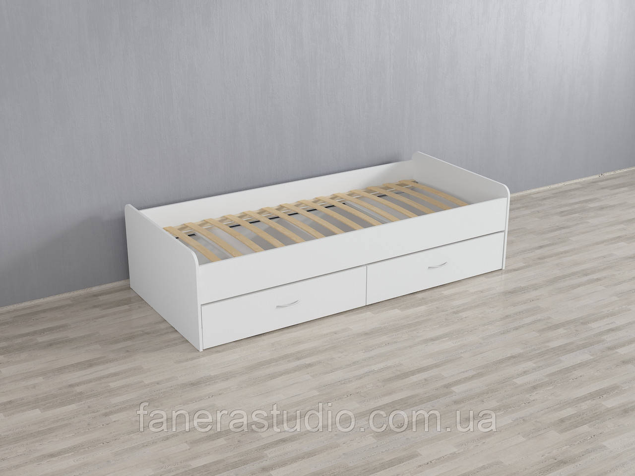 Кровать с двумя ящиками