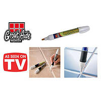 Маркер для кахлю Grout-Aide, олівець для приховування швів білий