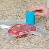 Вакуумний пакувальник для їжі Always Fresh Seal Vac від 3 батарейок ААА, в комплекті 6 пакетів, вакуумний пакувальник, вакуумний пакет