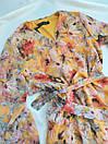 Жіноче помаранчеве плаття з квітковим принтом, фото 2