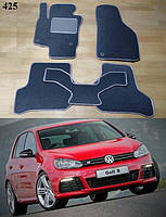 Коврики на Volkswagen Golf VI '09-12. Текстильные автоковрики, фото 1