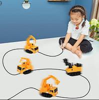 Індуктивний іграшковий автомобіль індуктив трак пластик, від батарейок LR44, дитячі іграшки, дитячі машинки
