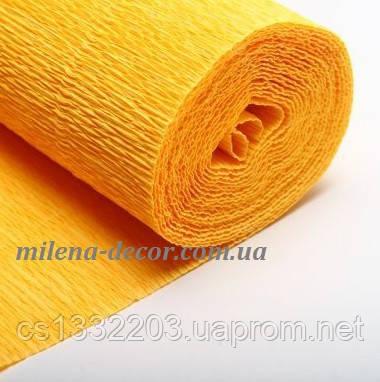"""Креп папір """"жовто-помаранчевий"""" 50*250см"""