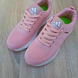 🔥 Женские кроссовки спортивные повседневные Adidas Neo pink адидас нео розовые, фото 4