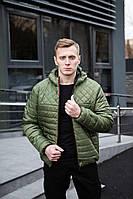 Модна весняна чоловіча куртка кольору хакі, фото 1