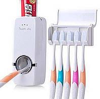 Тримач для зубних щіток з дозатором, Диспенсер для зубної пасти з власником, дозатор для зубної пасти, Тримач з дозатором для зубних щіток