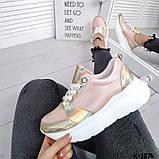 Класснючие кожаные женские кроссовки, фото 5