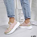 Класснючие кожаные женские кроссовки, фото 7