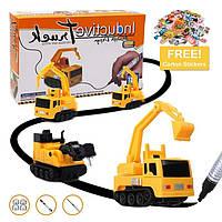 Індуктивний іграшковий автомобіль для треку Inductive Truck пластик, від батарейок LR44, дитячі іграшки, дитячі машинки