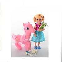 Кукла маленькая с пони. В коробке