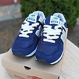 🔥 Женские кроссовки повседневные New Balance 574 синие нью беленсы, фото 5