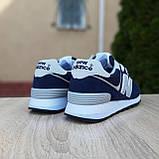 🔥 Женские кроссовки повседневные New Balance 574 синие нью беленсы, фото 9