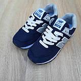 🔥 Женские кроссовки повседневные New Balance 574 синие нью беленсы, фото 10