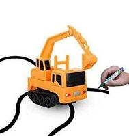 Індукційна машинка Inductive Truck пластик, від батарейок LR44, дитячі іграшки, дитячі машинки