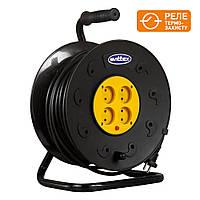 Удлинитель SVITTEX на катушке 25м с сечением провода 2х1,5 мм² и термозащитой