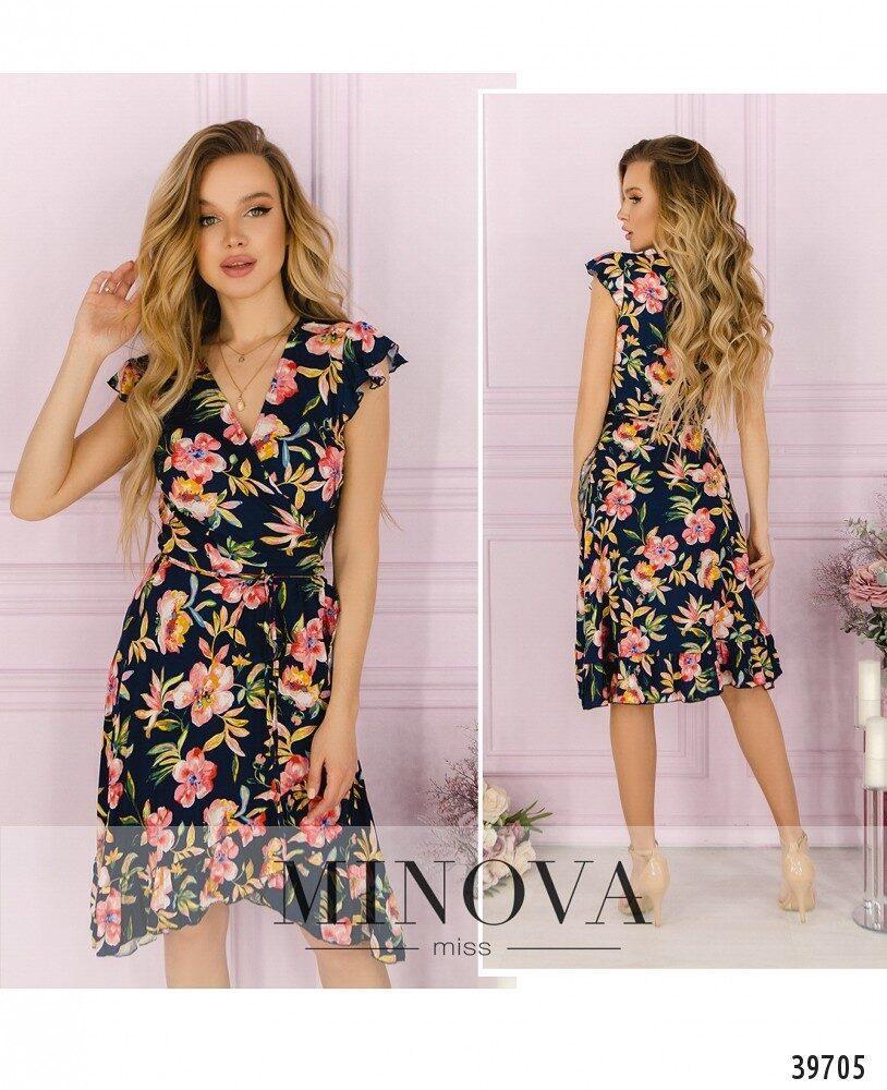Легке і яскраве плаття з великим квітковим принтом Розмір: 42,44,46,48