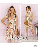 Легке і яскраве плаття з великим квітковим принтом Розмір: 42,44,46,48, фото 2