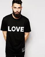 """Футболка мужская черная """"LOVE"""""""