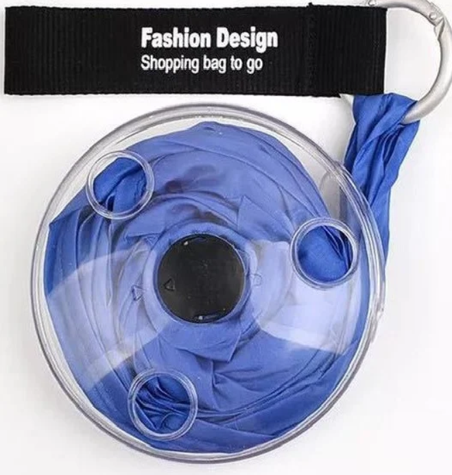 Складна компактна сумка-шоппер з карабіном Shopping bag to roll up